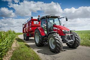 Обои Сельскохозяйственная техника Трактор Красный 2013-16 Massey Ferguson 5609