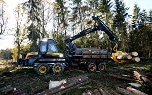 Обои Форвардер Дерево Ствол дерева 2014-17 Ponsse Gazelle