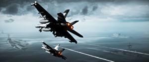 Обои Самолеты Авианосец Battlefield 3 Штурмовики Игры 3D_Графика Авиация