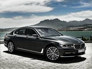 Картинка BMW Черный Седан 7-Series, G11 Автомобили