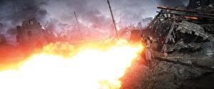 Фотографии Battlefield 1 Солдаты Пламя 3D_Графика