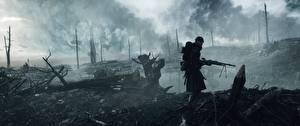 Обои Battlefield 1 Солдаты Пулеметы Дождь Война 3D_Графика