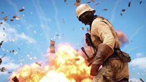 Фотография Battlefield 1 Солдаты Маски Военная каска 3D_Графика