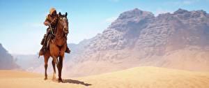 Картинки Battlefield 1 Солдаты Винтовки Лошади Капюшон 3D_Графика