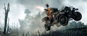 Картинки Battlefield 1 Боевая техника Дождь 3D_Графика