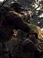 Картинка Battlefield 4 Снайперская винтовка Американские Сзади Снайперы 3D_Графика