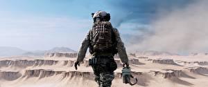 Фото Battlefield 4 Солдаты Американские Сзади Игры 3D_Графика