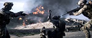 Обои Battlefield 4 Солдаты Американские Втроем 3D_Графика