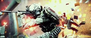 Фотография Battlefield 4 Солдаты Автоматы Американские 3D_Графика