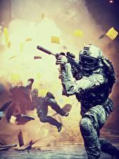 Фотографии Battlefield 4 Солдаты Автоматы Американские 3D_Графика