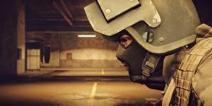 Фотографии Battlefield 4 Солдаты Крупным планом Военная каска Маски Американские 3D_Графика