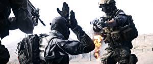 Фото Battlefield 4 Солдаты Пистолеты Американские 3D_Графика
