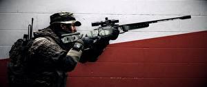 Картинка Battlefield 4 Солдаты Снайперская винтовка Снайперы Американские Игры 3D_Графика