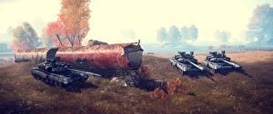 Фотография Battlefield 4 Танк Русские 3D_Графика