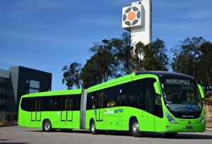 Обои Автобус Салатовый 2012-17 Marcopolo Viale BRT Hibribus Авто
