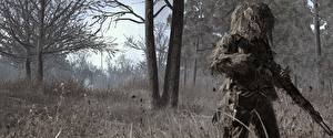 Картинки Call of Duty 4: Modern Warfare Снайперская винтовка Снайперы Маскировка 3D_Графика