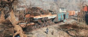 Фотографии Fallout Поезда 4 3D_Графика