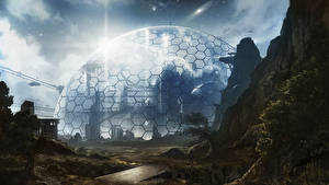 Картинки Фантастический мир Купол Фантастика