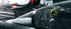 Обои Истребители Battlefield 3 Кабина летчика Американские Major Tom Игры 3D_Графика