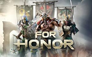 Обои For Honor Воители Викинги Самурай Игры Фэнтези картинки