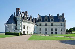 Обои Франция Замки Castle Amboise Города