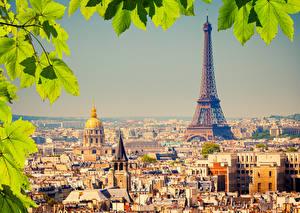 Фото Франция Дома Париж Эйфелева башня Мегаполис