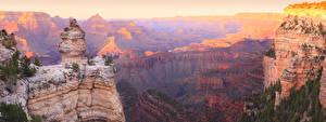 Фотографии Гранд-Каньон парк США Парки Гора Скала Природа