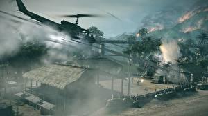 Обои Вертолеты Battlefield: Bad Company Стрельба 2 3D_Графика