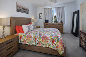 Обои Интерьер Дизайн Спальни Кровать Подушки