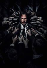 Фотографии Keanu Reeves Евгений Уик 0 Мужчины Пистолеты Фильмы Знаменитости