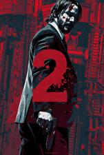 Фотография Keanu Reeves Мужчины Пистолеты Джон Уик 2 Кровь Кино Знаменитости