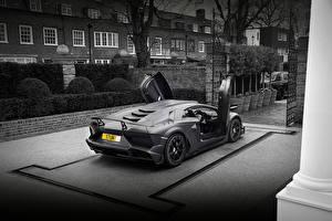 Обои Lamborghini Серая Aventador Mansory