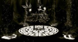 Обои Магия Черно белое Девушки