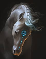 Картинки Волшебные животные Лошади Фантастика