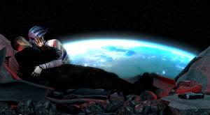 Фото Mass Effect Liara Shepard 2 Поцелуй Инопланетяне Игры 3D_Графика 3D_Графика