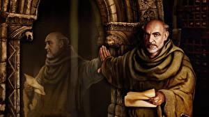 Картинки Мужчины Зеркало Отражение The Abbey of Crim, William of Ockham Игры