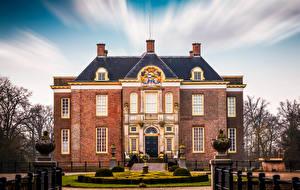 Фотографии Нидерланды Замки Кусты Middachten Castle Города