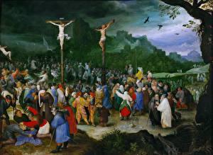 Фотографии Живопись Крест Jan Brueghel The Elder, Crucifixion