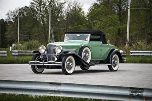 Обои Винтаж Салатовый Металлик 1929 Duesenberg J 417-2157 Convertible Coupe SWB by Fleetwood Авто