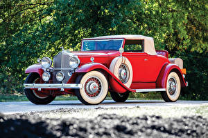 Фото Ретро Красный 1932 Packard Standard Eight Coupe Roadster Машины