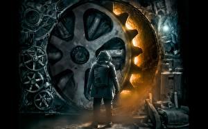 Обои Романтика Апокалипсиса Двери Шестерня Фантастика