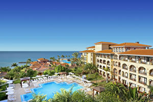 Фотография Испания Курорты Дома Канары Бассейны Tenerife город