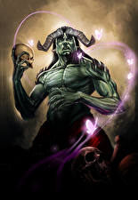 Фотография Сверхъестественные существа Черепа Монстры Рога Фантастика