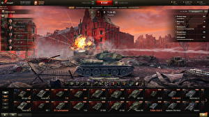 Картинка Танки Т-34 World of Tanks Русские