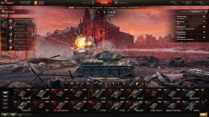 Картинка Танк Т-34 World of Tanks Русские Игры