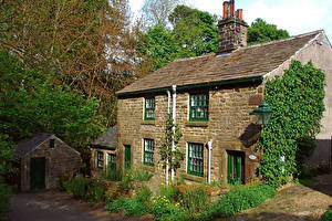 Картинки Великобритания Здания Edale Derbyshire Города