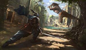 Обои Воины Сражения 2 Самурай
