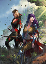 Обои Воины Иллюстрации к книгам Лучники 2 Destiny Reforged Фантастика Девушки