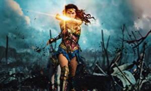 Картинки Воители Чудо-женщина (фильм) Чудо-женщина герой Кино Знаменитости Девушки
