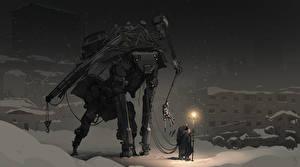 Картинки Зимние Робот